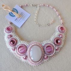 Bead embroidery necklace                                                                                                                                                                                 More