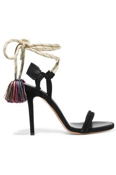 32facf597 Isabel Marant - Alois tasseled leather-trimmed suede sandals