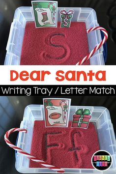 Dear Santa Letter Sounds / Writing Activities Christmas Preschool Activities That Are Merry & Bright Preschool Christmas Activities, Preschool Classroom, Preschool Learning, Christmas Crafts For Kids, Classroom Activities, In Kindergarten, Writing Activities For Preschoolers, Preschool Education, Indoor Activities