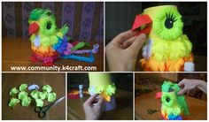 How to Make a Colorful Paper Parrot - Crazzy Crafts