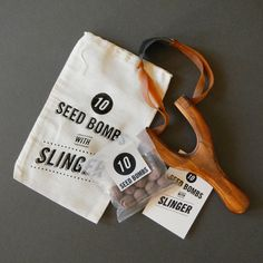 Seed Bombs with Slingshot - Slinger and Seed Balls for DIY Wildflower Guerrilla Gardening