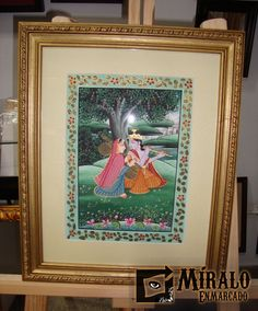 Miralo Enmarcado - Taller de Marcos Cuadros y Espejos: Enmarcado de pintura de la india