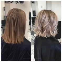 Needless to say, silky, shiny hair is beautiful and is desired by women all around the world. Pretty Hairstyles, Bob Hairstyles, Medium Hair Styles, Curly Hair Styles, Brown Blonde Hair, Hair Color And Cut, Shiny Hair, Great Hair, Hair Highlights