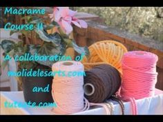 Knitting Patterns Modern Free Online Macrame Course: Learn How to Make Decorative Knots (PART Macrame Art, Macrame Projects, Macrame Supplies, Micro Macrame Tutorial, Decorative Knots, Macrame Patterns, Knitting Patterns, Macrame Bracelets, Diy And Crafts
