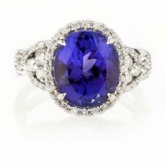 Tanzanite: I love the color of this stone.