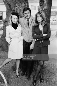 Alain Delon On The Set Of The Movie 'Adieu L'Ami' Directed By Jean Herman With Brigitte Fossey And Olga Georges Picot, In Paris, France, In February 1968 .