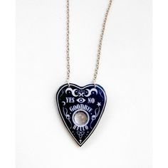 Ouija Necklace Ouija Planchette Ouija Jewery Ouija necklace Magical... (28 AUD) ❤ liked on Polyvore featuring jewelry, necklaces, gothic jewelry, goth jewelry, goth necklace, gothic jewellery and gothic necklaces