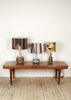 Tamasyn Gambell & ForestLondon collaborate to create gorgeous Bauhaus-meets-modernist printed lampshade collection