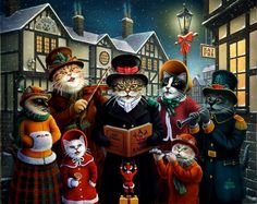 The Carolers by Don Roth