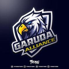 GARUDA ALLIANCE Esport Mascot Character Vector designed by Teng Studio. Football Logo Design, Team Logo Design, Mascot Design, Identity Design, Brand Identity, Logo Bird, Logo Esport, Eagle Logo, Eagle Mascot