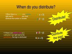 Combining like terms & Distributive property