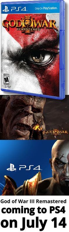 God of War III Remastered coming to PS4 on July 14. God of War 3 Remastered 14 Temmuz 2015'de PlayStation 4 için geliyor.