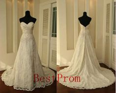Free shopping! New white/ivory lace wedding dress custom wedding gowns  custom size $178 2-4-6-8-10-12-14-16-18-20-22
