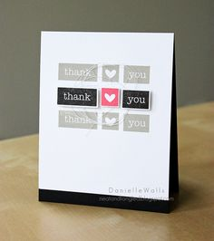 Black and white with a pop of color is a W in my book. Love this card by Neat & Tangled's Danielle Walls.