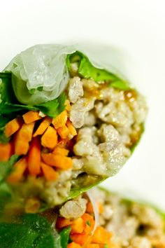 Fresh rolls in rice wrap. These can be very versatile.