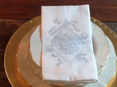 Christmas Tranquility Embroidered Dinner by EmbroideredHElegance