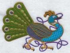 Celtic peacock