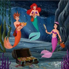 Ariel and two of her sisters