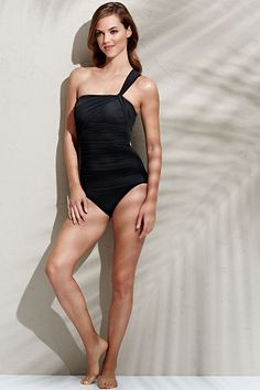Women's Slender One Shoulder One Piece Swimsuit