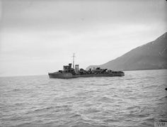 """Royal Navy - """"HMS BLANKNEY"""" (L30) was a (280') Hunt Class Destroyer - Commissioned 11 April 1941 – Complement: 146 Officers and Enlisted Men – Armament: 6 x 4 Inch (102mm) QF Mk XVI Guns on Twin Mounts Mk XIX, 4 x 1.6 Inch (40mm) on Quad Mounts Mk VII, 2 x 20mm Oerlikon on Single Mount, 2 x Depth Charge P Mk.111 Throwers and 3 x Depth Charge P Mk.II0 Depth Racks - Was Paid Off May 1946 and Placed in Reserve – Was Put on the Disposal List 22 October 1948 and Sold for Scrapped 9 March 1949"""