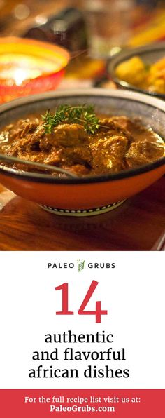 14 Authentic and Flavorful African Dishes - / - African Food Paleo Recipes, Healthy Dinner Recipes, African Stew, Morrocan Food, Paleo Grubs, Caribbean Recipes, World Recipes, Whole 30 Recipes, Soul Food