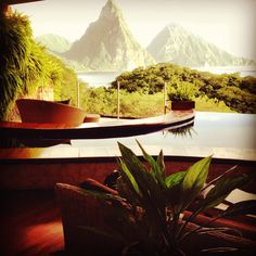 A view from Jade Mountain Resort in beautiful St. Lucia. Interested in staying here? Get more information: http://www.honeymoonsinc.com/Caribbean_Honeymoon/St_Lucia_Honeymoon/Jade_Mountain.aspx