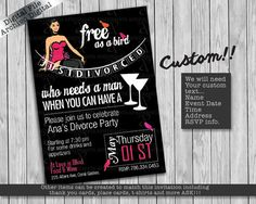 Divorce Rocks Divorce Party Invitation Rockin Divorce Party