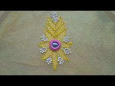 (67) shadow work/chicken kari stitch:hand embroidery - YouTube