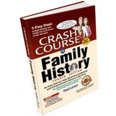 Crash Course in Family History by Paul Larsen is an easy to understand guidebook for those getting started in genealogy research.