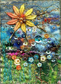 The Sun to Rule the Day | ACEO art quilt | molly jean hobbit | Flickr