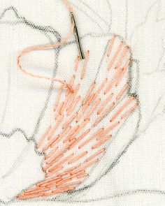 Hand Embroidery Tutorial, Embroidery Flowers Pattern, Hand Embroidery Designs, Cross Stitch Embroidery, Embroidery On Clothes, Thread Painting, Brazilian Embroidery, Satin Stitch, Needle And Thread