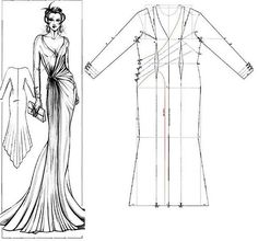 lindo diseños Robe de soirée patron gratuit Evening dress free pattern فستان حفلات تفصيل مجاني