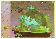 "Nicole Claveloux ~ illustration Richard Hughes ""Gertrude and the Mermaid"" (1971) - 50 Watts"