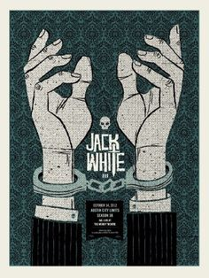 ☯☮ॐ American Hippie Classic Rock Concert Music Poster ~ Jack White