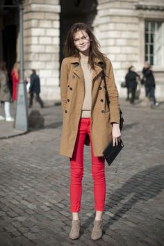 Trench, Sweater, Jeans, & Booties