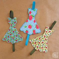 elastic bookmark with little dress (or another shape)