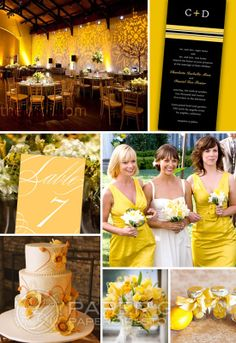 Yellow Wedding Decorations Ideas For Tables Paper