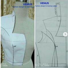 The Effective Pictures We Offer You About Skirt design A quality picture can tell you many things. Techniques Couture, Sewing Techniques, Skirt Patterns Sewing, Clothing Patterns, Kurti Patterns, Sewing Collars, Costura Fashion, Bodice Pattern, Jacket Pattern