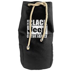 The Black Jeep Of The Family White Vertical Bucket Cylindrical Shaped Canvas Beam Port Drawstring Sports Basketball Shoulders Backpack Bags -- Details can be found by clicking on the affiliate link Amazon.com.