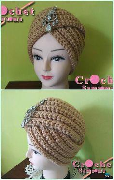 Crochet Ribbed Turban Hat Pattern - Crochet Turban Hat Free Patterns