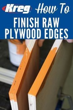 How To Make Edges Look Great on Painted Plywood Projects Learn how to smooth out rough edges on plywood quickly and easily to prepare them for a great-looking paint finish. All you need are a putty knife, some sandpaper, and ordinary spackle. Beginner Woodworking Projects, Learn Woodworking, Woodworking Techniques, Popular Woodworking, Woodworking Furniture, Plywood Furniture, Woodworking Crafts, Woodworking Plans, Furniture Plans