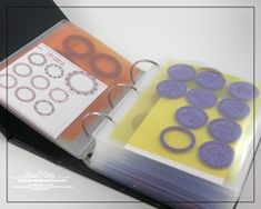 Stamp Storage Tutorial by Becca Feeken at Amazing Paper Grace Blog. Supplies were purchased from Office Depot and the binder from Hobby Lobby. Love this idea