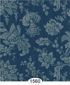 Wallpaper - Vintage Damask - Navy Blue [WAL1560] - $0.00 : itsy bitsy mini, Wholesale & Retail Dollhouse Wallpaper & Accessories