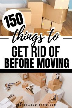 Learn how to declutter before moving with these easy and simple tips and ideas. FREE printable declutter checklist to get your house ready for moving day.