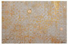 Love the patterned work and gold circles by Jennifer Moreman.