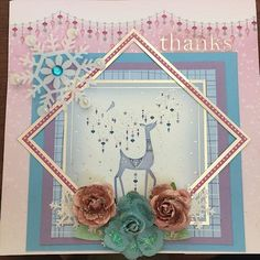 Winter thank you card