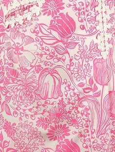 "Vintage Lilly Print from the 60's ""Pretty In Pink"""