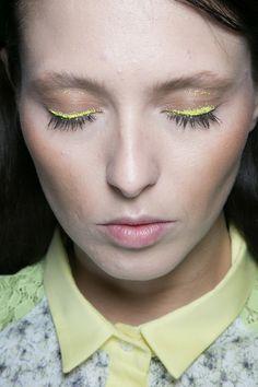 Massimo Rebecchi Spring 2014. http://votetrends.com/polls/369/share #makeup #beauty #runway #backstage