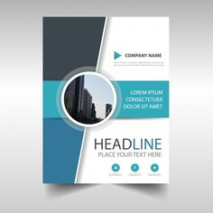 Blue creative annual report book cover t. Book Cover Page Design, Page Layout Design, Annual Report Covers, Cover Report, Magazine Ideas, Cover Page Template, Graphic Design Brochure, Leaflet Design, Brochure Cover