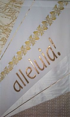 Easter Banner --  Cotton and synthetic.